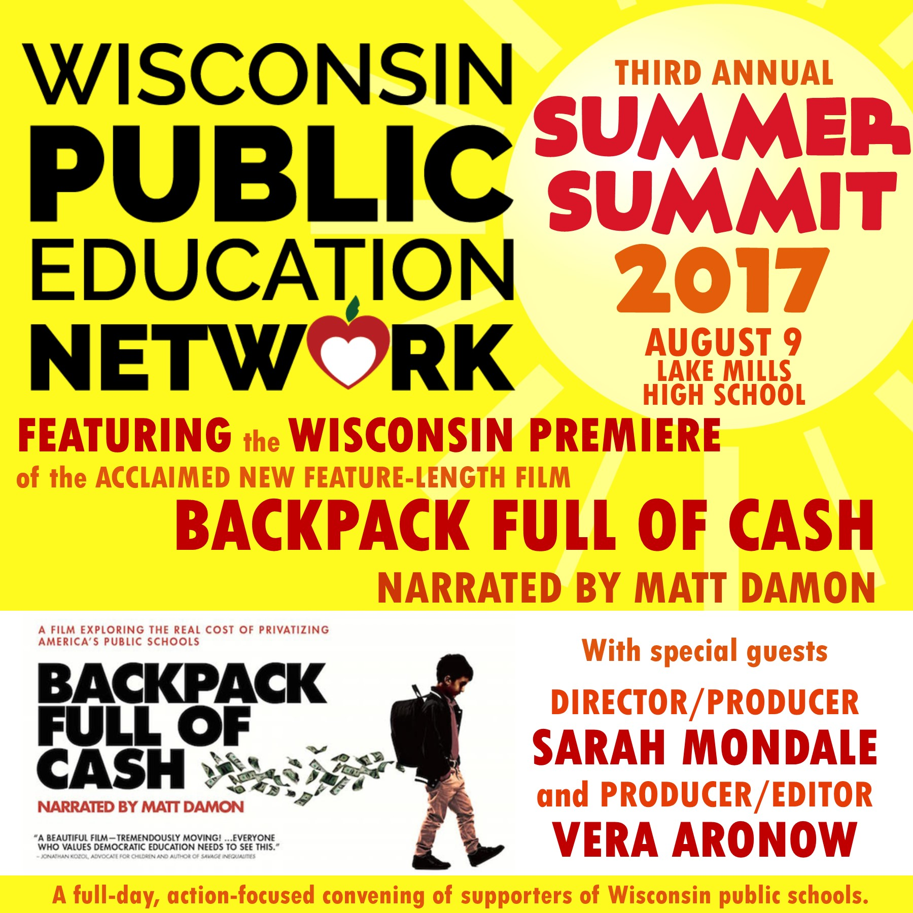 Summer Summit 2017 graphic + Backpack promo