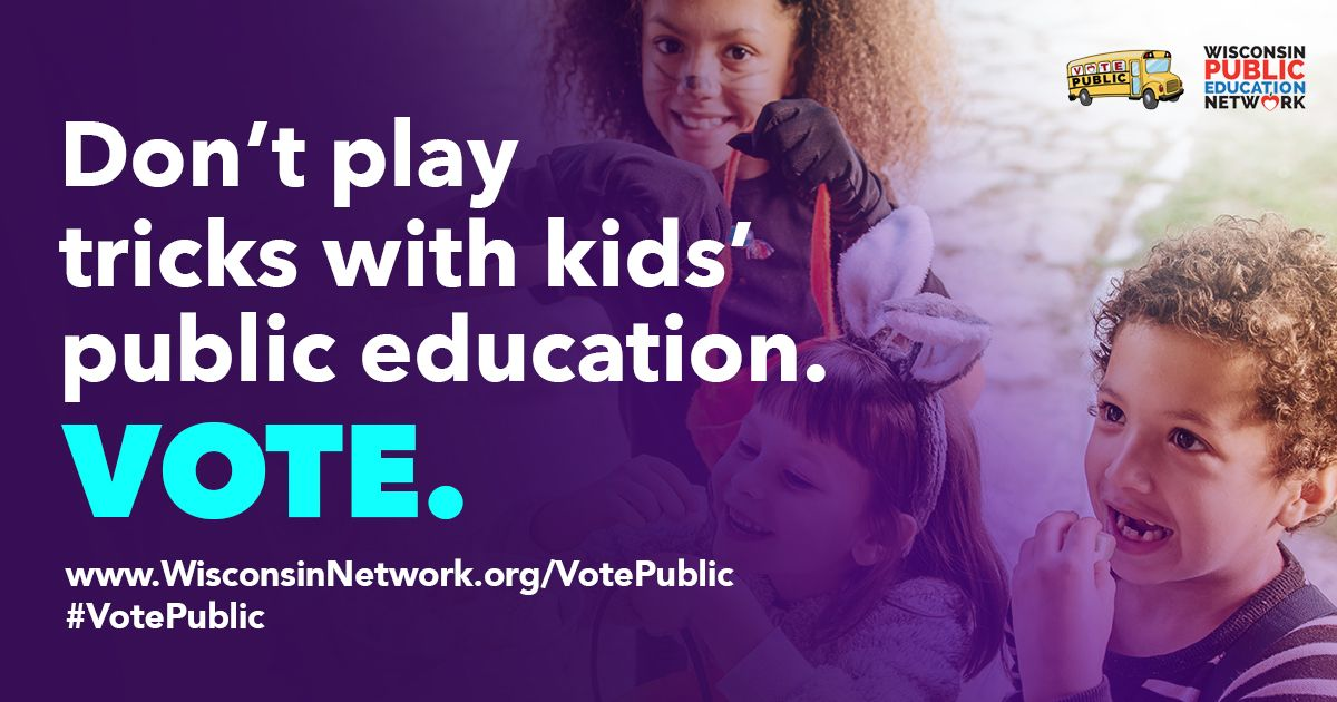Don't play tricks with kids' public education. Vote.